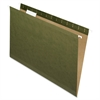 "Reinforced Hanging Folder - Legal - 8 1/2"" x 14"" Sheet Size - 1/5 Tab Cut - Standard Green - 25 / Box"