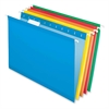"Pendaflex Reinforced Hanging Folders - Legal - 8 1/2"" x 14"" Sheet Size - 1/5 Tab Cut - Blue, Red, Yellow, Orange, Green - 25 / Box"