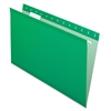 "Hanging Folder - Legal - 8 1/2"" x 14"" Sheet Size - 1/5 Tab Cut - Bright Green - 25 / Box"