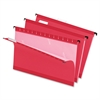 "Pendaflex Reinforced Hanging Folders - Legal - 8 1/2"" x 14"" Sheet Size - 1/5 Tab Cut - Red - 25 / Box"