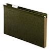 "Hanging Folder - 1"" Folder Capacity - Legal - 8 1/2"" x 14"" Sheet Size - 1"" Expansion - Pressboard - Standard Green - 25 / Box"
