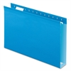 "Extra Capacity Box Bottom Hanging Folders - Legal - 8 1/2"" x 14"" Sheet Size - 2"" Expansion - 1/5 Tab Cut - Pressboard, Poly - Blue - 25 / Box"