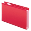 "Extra Capacity Box Bottom Hanging Folders - Legal - 8 1/2"" x 14"" Sheet Size - 2"" Expansion - 1/5 Tab Cut - Pressboard, Poly - Red - 25 / Box"