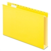 "Extra Capacity Box Bottom Hanging Folders - Legal - 8 1/2"" x 14"" Sheet Size - 2"" Expansion - 1/5 Tab Cut - Pressboard, Poly - Yellow - 25 / Box"