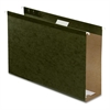 "Hanging Folder - 3"" Folder Capacity - Legal - 8 1/2"" x 14"" Sheet Size - 3"" Expansion - Pressboard - Standard Green - 25 / Box"