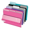 "Pendaflex 1/3-cut Tab Color-coded Interior Folders - Letter - 8 1/2"" x 11"" Sheet Size - 1/3 Tab Cut - Assorted Position Tab Location - Assorted - 100 / Box"