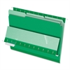 "Interior File Folder - Letter - 8 1/2"" x 11"" Sheet Size - 1/3 Tab Cut - Assorted Position Tab Location - Green - 100 / Box"