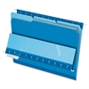 "Interior File Folder - Letter - 8 1/2"" x 11"" Sheet Size - 1/3 Tab Cut - Assorted Position Tab Location - Blue - 100 / Box"
