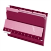 "Interior Folder - Letter - 8 1/2"" x 11"" Sheet Size - 1/3 Tab Cut - Burgundy - 100 / Box"