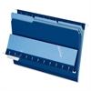 "Interior Folder - Letter - 8 1/2"" x 11"" Sheet Size - 1/3 Tab Cut - Navy Blue - 100 / Box"