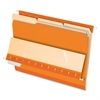 "Interior Folder - Letter - 8 1/2"" x 11"" Sheet Size - 1/3 Tab Cut - Orange - 100 / Box"