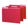 "Interior Folder - Letter - 8 1/2"" x 11"" Sheet Size - 1/3 Tab Cut - Red - 100 / Box"