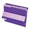"Interior Folder - Letter - 8 1/2"" x 11"" Sheet Size - 1/3 Tab Cut - Violet - 100 / Box"