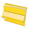 "Interior Folder - Letter - 8 1/2"" x 11"" Sheet Size - 1/3 Tab Cut - Yellow - 100 / Box"