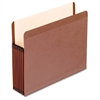 "Premium Reinforced File Pockets - Letter - 8 1/2"" x 11"" Sheet Size - 7"" Expansion - Red Fiber - Red Fiber - Recycled - 5 / Box"