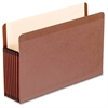 "Premium Reinforced File Pocket - Legal - 8 1/2"" x 14"" Sheet Size - 7"" Expansion - Red Fiber, Manila - Red Fiber - Recycled - 5 / Box"