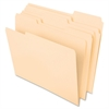 "Pendaflex Cutless/WaterShed File Folder - Letter - 8 1/2"" x 11"" Sheet Size - 1/3 Tab Cut - Assorted Position Tab Location - 11 pt. Folder Thickness - Manila - 100 / Box"