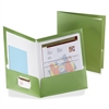 "Oxford Metallic Two Pocket Folder - Letter - 8 1/2"" x 11"" Sheet Size - 150 Sheet Capacity - 2 Pocket(s) - Green - 25 / Box"