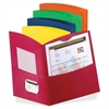 "Contour Two Pocket Folder - Letter - 8 1/2"" x 11"" Sheet Size - 100 Sheet Capacity - 2 Pocket(s) - Embossed Paper - Assorted - 25 / Box"