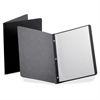 "Panel & Border Report Covers - 1/2"" Folder Capacity - Letter - 8 1/2"" x 11"" Sheet Size - Leatherette - Black - Recycled - 25 / Box"