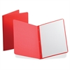 "Panel & Border Report Covers - 1/2"" Folder Capacity - Letter - 8 1/2"" x 11"" Sheet Size - Leatherette - Red - Recycled - 25 / Box"