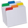 "Pendaflex Easy View File Folders - Letter - 8 1/2"" x 11"" Sheet Size - 1/3 Tab Cut - Assorted Position Tab Location - Poly - Clear - 25 / Box"