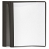 "Oxford Clear Front Report Cover - Letter - 8 1/2"" x 11"" Sheet Size - 100 Sheet Capacity - 3 x Tang Fastener(s) - 1/2"" Fastener Capacity for Folder - Leatherette - Black, Clear - Recycled"