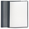 "Clear Front Report Cover - Letter - 8 1/2"" x 11"" Sheet Size - 100 Sheet Capacity - 3 x Tang Fastener(s) - 1/2"" Fastener Capacity for Folder - Leatherette - Dark Blue, Clear - Recycled - 25 / Bo"
