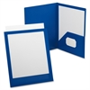 "Oxford Viewfolio Presentation Folders - Letter - 8 1/2"" x 11"", 9 1/2"" x 11 5/8"" Sheet Size - 2 Pocket(s) - Polypropylene - Blue - 1 Each"