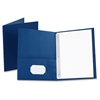 "Oxford Twin-Pocket Folders with Fasteners - Letter - 8 1/2"" x 11"" Sheet Size - 85 Sheet Capacity - 3 Fastener(s) - 1/2"" Fastener Capacity for Folder - 2 Inside Front & Back Pocket(s) - Leatherette Pap"
