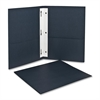 "Twin-Pocket Folders with Fasteners - Letter - 8 1/2"" x 11"" Sheet Size - 3 Fastener(s) - 1/2"" Fastener Capacity for Folder - 2 Inside Front & Back Pocket(s) - Leatherette Paper - Dark Blue - 25"