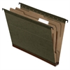 "Pendaflex Hanging Folder with Dividers - Letter - 8 1/2"" x 11"" Sheet Size - 2"" Expansion - 2"" Fastener Capacity for Folder - 2 Divider(s) - Paper Stock - Green - 10 / Box"