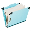 "Hanging Classification Folders - Legal - 8 1/2"" x 14"" Sheet Size - 2"" Expansion - 2 3/4"" Fastener Capacity for Folder - 2 Divider(s) - 25 pt. Folder Thickness - Pressboard - Blue - 1 Each"