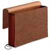 "Pendaflex Reinforced Expanding Wallets - 10"" x 15"" Sheet Size - 5 1/4"" Expansion - Red Fiber - Red - 1 Each"