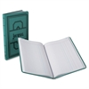 Boorum & Pease Blue Canvas Book, Journal-Ruled - 150 Sheet(s) - White Sheet(s) - Red, Blue Print Color - Blue Cover - 1 Each