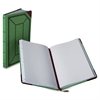 "Record-Ruled Canvas Books - 300 Sheet(s) - 12.50"" x 7.62"" Sheet Size - White Sheet(s) - Blue, Red Print Color - Red, Green Cover - 1 Each"