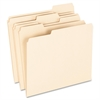 "100% Recycled Paper Top Tab File Folder - Letter - 8 1/2"" x 11"" Sheet Size - 1/3 Tab Cut - Assorted Position Tab Location - 11 pt. Folder Thickness - Manila - 100 / Box"