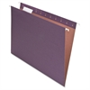 "100% Recycled Paper Hanging Folders - Letter - 8 1/2"" x 11"" Sheet Size - 1/5 Tab Cut - Fiber - Violet - 25 / Box"