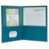 "Oxford 100% Recycled Paper Twin Pocket Folders - Letter - 8 1/2"" x 11"" Sheet Size - 100 Sheet Capacity - 2 Pocket(s) - Blue - 25 / Box"