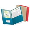 "Pendaflex Oxford EarthWise Recycled Twin Pocket Folders - Letter - 8 1/2"" x 11"" Sheet Size - 100 Sheet Capacity - 2 Pocket(s) - Assorted - 25 / Box"