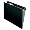 "Essentials Colored Hanging Folder - Letter - 8 1/2"" x 11"" Sheet Size - 1/5 Tab Cut - Black - 25 / Box"