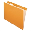 "Pendaflex Essentials Color Hanging Folders - Letter - 8 1/2"" x 11"" Sheet Size - 1/5 Tab Cut - Orange - 25 / Box"