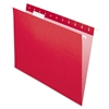 "Pendaflex Essentials Colored Hanging Folder - Letter - 8 1/2"" x 11"" Sheet Size - 1/5 Tab Cut - Red - 25 / Box"