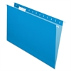 "Pendaflex Essentials Color Hanging Folders - Legal - 8 1/2"" x 14"" Sheet Size - 1/5 Tab Cut - Blue - 25 / Box"