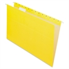 "Essentials Color Hanging Folders - Legal - 8 1/2"" x 14"" Sheet Size - 1/5 Tab Cut - Yellow - 25 / Box"