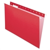 "Pendaflex Essentials Color Hanging Folders - Legal - 8 1/2"" x 14"" Sheet Size - 1/5 Tab Cut - Red - 25 / Box"