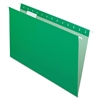"Essentials Color Hanging Folders - Legal - 8 1/2"" x 14"" Sheet Size - 1/5 Tab Cut - Bright Green - 25 / Box"