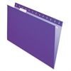 "Pendaflex Essentials Color Hanging Folders - Legal - 8 1/2"" x 14"" Sheet Size - 1/5 Tab Cut - Violet - 25 / Box"