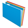 "Essentials Color Hanging Folders - Legal - 8 1/2"" x 14"" Sheet Size - 1/5 Tab Cut - Assorted - 25 / Box"