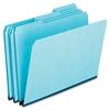 """Pendaflex Pressboard File Folder - Letter - 8 1/2"""" x 11"""" Sheet Size - 1"""" Expansion - 25 pt. Folder Thickness - Pressboard - Blue - 25 / Box"""